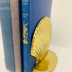 Vintage brass bookends.